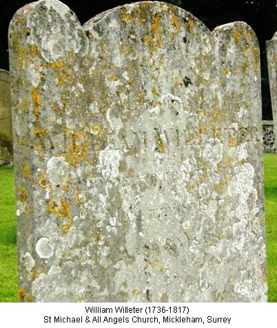 William Willeter 1736 Grave