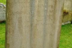 Frances 1789 & Jane Willeter 1796 grave